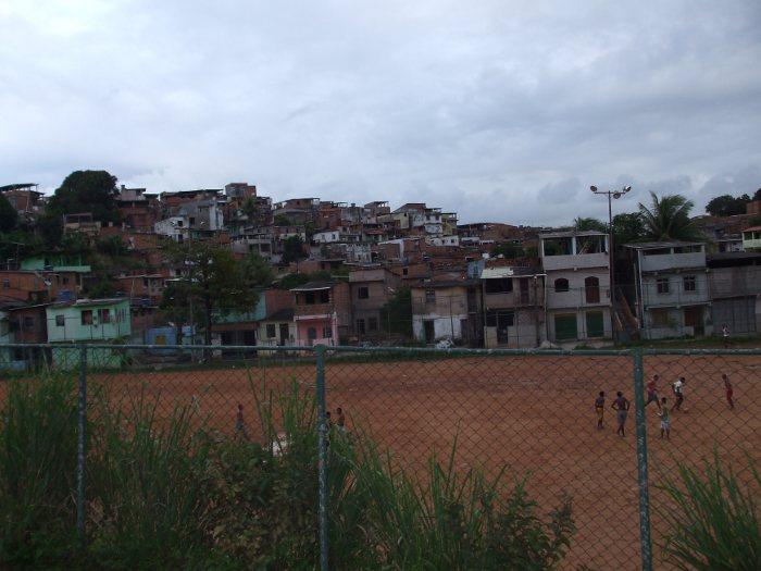 Ortsansicht des Ortes, wo die Pilger sind.