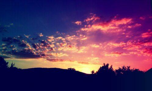 Hübscher Sonnenuntergang