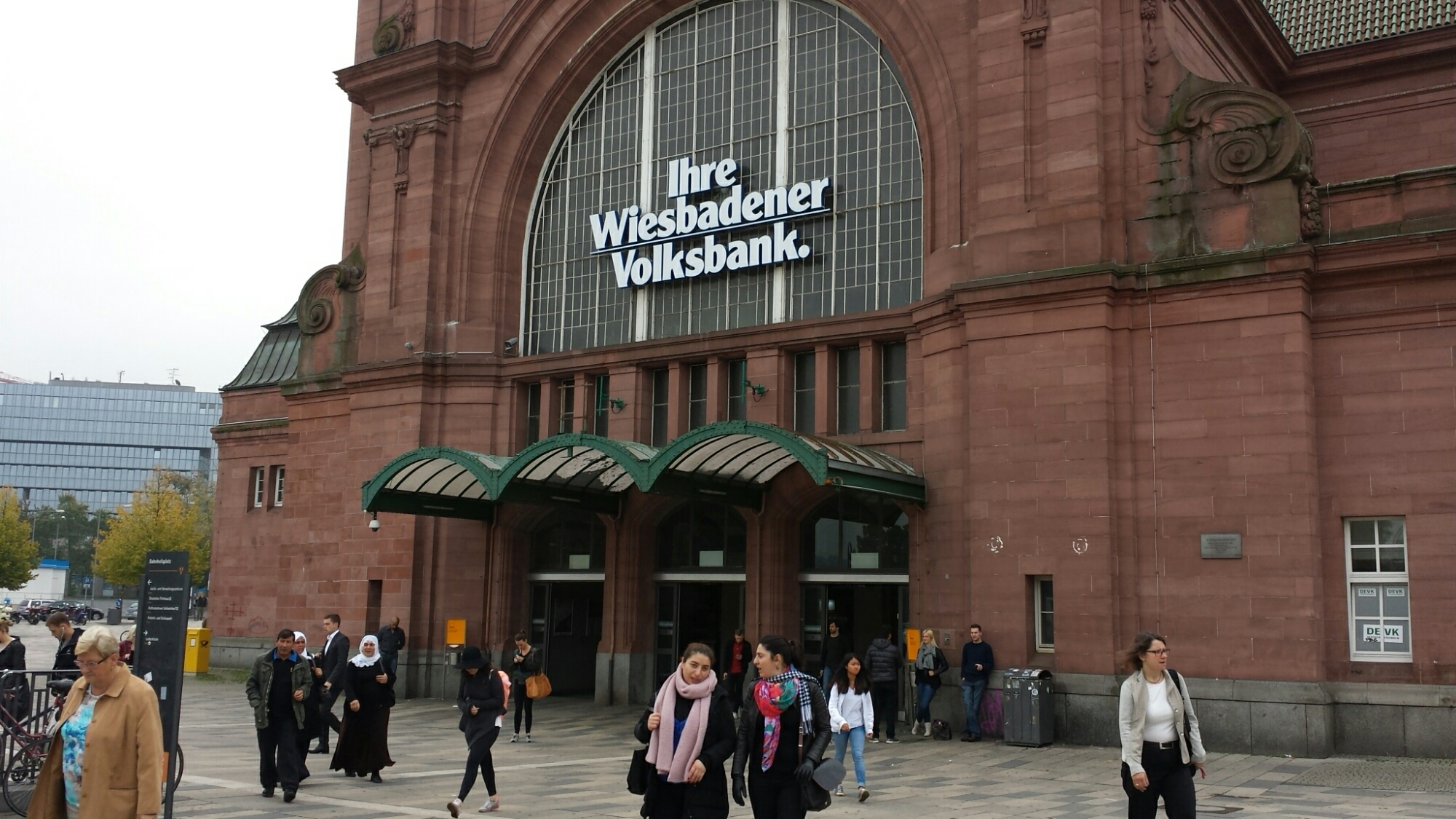 Das Ziel: Der Wiesbadener Hauptbahnhof