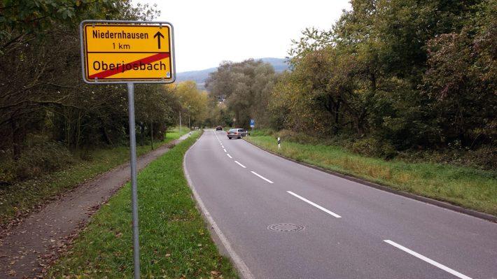 Die Straße nach Niedernhausen