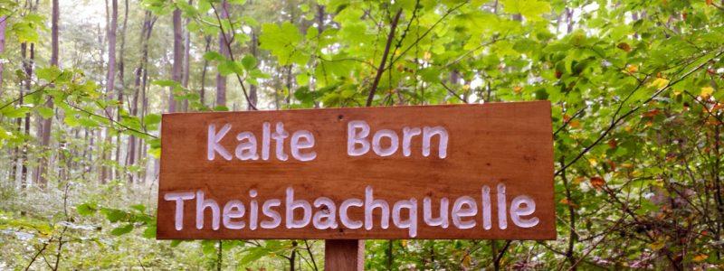 Neues Schild am Kalte Born