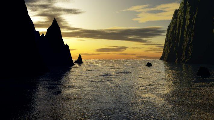 Fjord zum offenen Meer