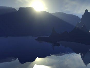 Spiegelglatte See